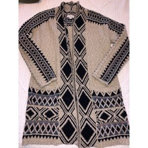 Lucky Brand Western Textile Cardigan
